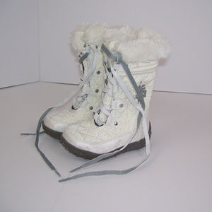 US Polo Assn 5M Girl White Boots Faux Fur MOLLYF6